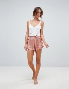 Пижамные шорты с оборками Y.A.S - Розовый