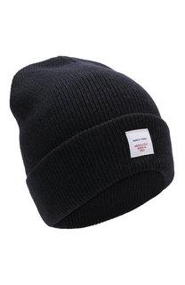 Шерстяная шапка с логотипом бренда Daniele Fiesoli