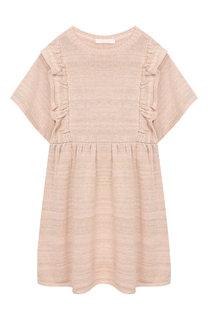 Платье из смеси хлопка и вискозы с оборками Chloé