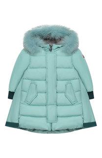Пуховое пальто с капюшоном Moncler Enfant