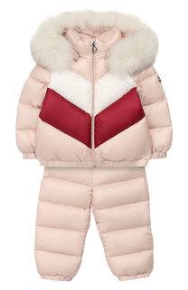 Пуховый комплект из комбинезона и куртки Moncler Enfant
