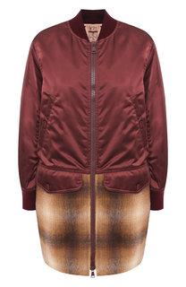 Куртка на молнии с контрастной вставкой No. 21