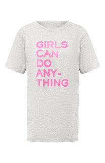 Хлопковая футболка с надписью Zadig&Voltaire