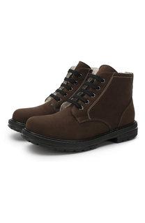 Кожаные ботинки с внутренней меховой отделкой Lanvin