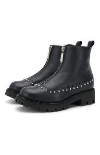 Кожаные ботинки с внутренней меховой отделкой Dsquared2