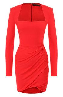 Приталенное мини-платье с драпировкой Versace