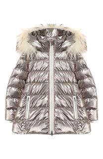 Пуховая куртка на молнии с капюшоном Add