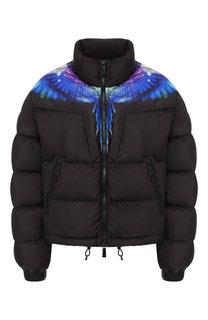 Утепленная куртка с воротником-стойкой и принтом Marcelo Burlon