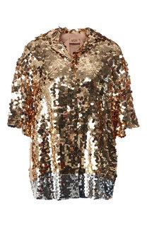 Блуза с коротким рукавом и пайетками No. 21