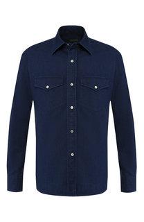 Джинсовая рубашка на кнопках Tom Ford