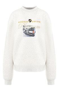 Хлопковый пуловер с круглым вырезом Alexander Wang