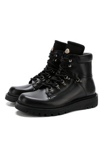 Кожаные ботинки на шнуровке Moncler