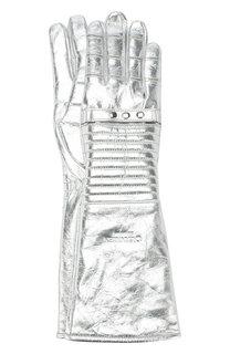 Удлиненные перчатки из металлизированной кожи CALVIN KLEIN 205W39NYC