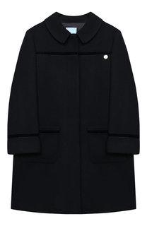 Шерстяное пальто с отложным воротником Lanvin