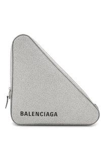 Клатч Triangle с глиттером Balenciaga