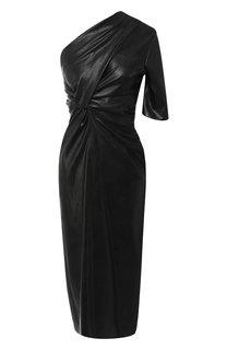 Приталенное платье на одно плечо с драпировкой Stella McCartney