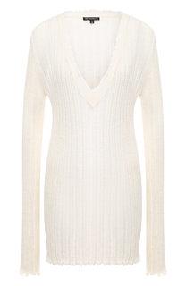Удлиненный пуловер с V-образным вырезом Ann Demeulemeester