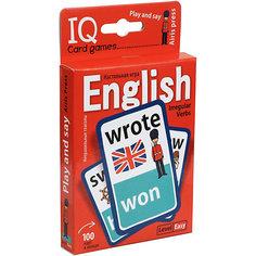 """Английские неправильные глаголы """"Умные игры с картами"""" Уровень 1, красный АЙРИС пресс"""