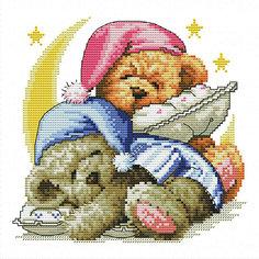 Набор для вышивания Белоснежка «Два медвежонка», 30х30 см
