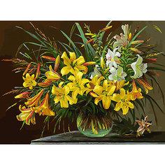 Картина по номерам Белоснежка «Золотая лилия», 30x40 см
