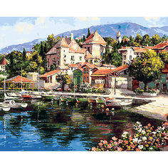 Картина по номерам Белоснежка «Лодочная пристань», 40x50 см