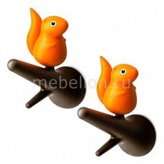 Набор из 2 крючков декоративных Qualy QL10088-BN-OR Umbra