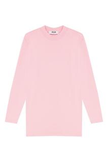 Розовый трикотажный лонгслив Msgm