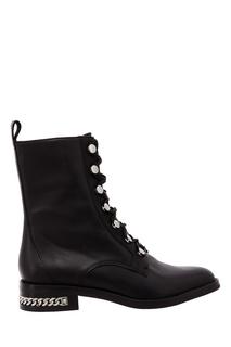 Черные ботинки на шнуровке What FOR