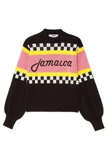 Вязаный свитер c надписью Msgm