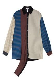 Комбинированная блузка Loewe