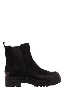 Черные ботинки с фактурной отделкой What FOR