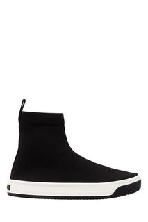 Текстильные черные ботинки Marc Jacobs