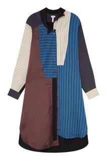 Комбинированное платье-рубашка Loewe