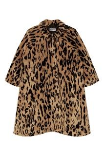 Пальто с контрастным рисунком Balenciaga