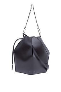 Черная сумка с цепочкой Alexander Mc Queen