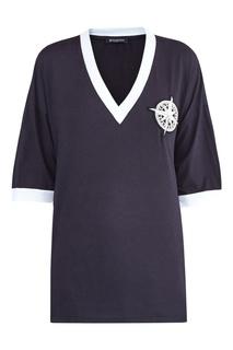 Черная футболка с аппликацией Balmain