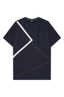 Темно-синяя футболка Boss Green