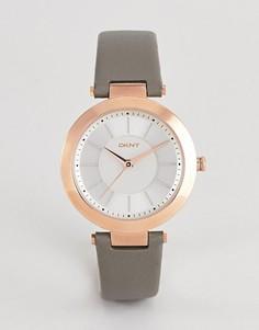 Часы с белым циферблатом и серым кожаным ремешком DKNY NY2296 - Серый