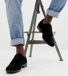 Черные замшевые туфли с натуральной подошвой ASOS DESIGN - Черный