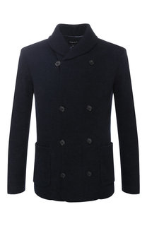 Двубортный пиджак из смеси хлопка и вискозы Giorgio Armani