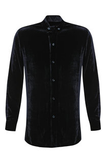 0c8e66e007b6 Рубашка из смеси вискозы и шелка с воротником мандарин Giorgio Armani