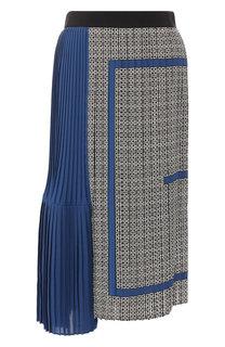Плиссированная юбка-миди из шелка Givenchy