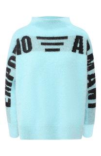 Вязаный пуловер с воротником-стойкой Emporio Armani