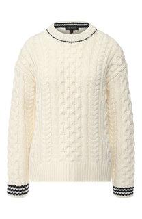 Шерстяной пуловер с контрастной отделкой Rag&Bone