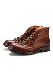 Кожаные ботинки на шнуровке Officine Creative