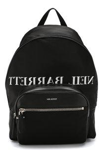 Текстильный рюкзак с внешним карманом на молнии Neil Barrett