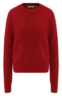 Шерстяной пуловер с круглым вырезом Helmut Lang