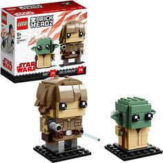 Сборная фигурка LEGO BrickHeadz 41627: Люк и Йода