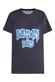 Черная футболка с логотипом Balmain