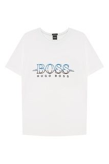 Белая футболка с логотипом Boss Green